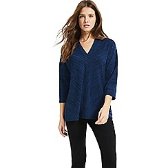 Phase Eight - Blue Sloan space dye top