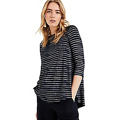Phase Eight - Blue Shaine shimmer stripe top