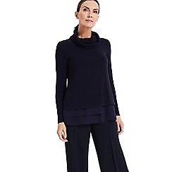 Phase Eight - Blue Wanita Roll Neck Top