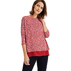 Phase Eight - Red hester heart print top