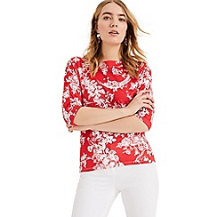 Phase Eight - Red Toile De Jouy Print Top