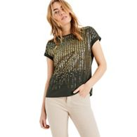 6d37b61c33623 Phase Eight - Green Olivia ombre foil t-shirt