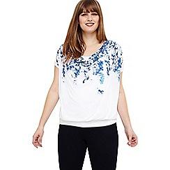 Studio 8 - Sizes 12-26 Blue hetty hydrangea print top