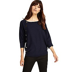 Phase Eight - Navy natka button knitted jumper