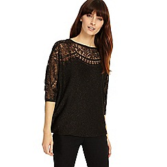 Phase Eight - Foil lace trim becca knitted top