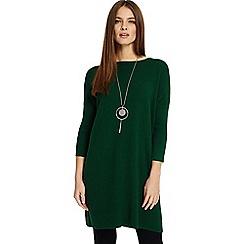 Phase Eight - Green Tiberia ripple stitch tunic