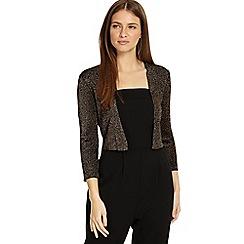 Phase Eight - Dark gunmetal salma shimmer knitted jacket