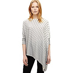 Phase Eight - Grey graduated spot melinda knit top