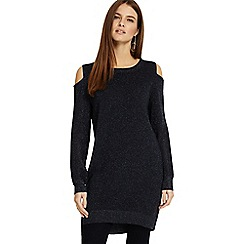 Phase Eight - Navy blue Romana shimmer cold shoulder tunic