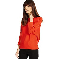 Phase Eight - Orange Becca smart batwing knitted jumper