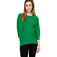 Phase Eight - Green becca smart batwing knitted jumper