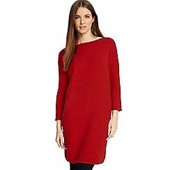Phase Eight - Red Tiberia ripple stitch tunic