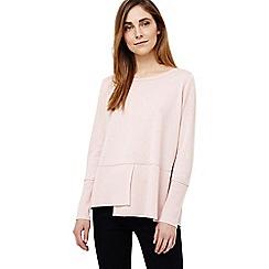 Phase Eight - Pink felicity step hem knit jumper