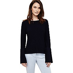Phase Eight - Navy flori bell sleeve knitted top