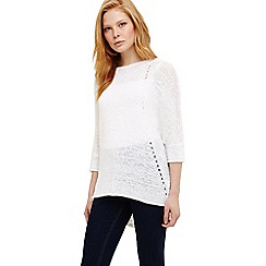 Phase Eight - White aideen tape knitted jumper