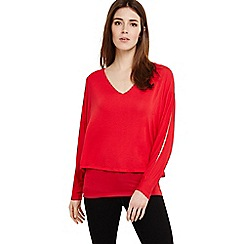 Phase Eight - Dark pink gisella double layer knit top 206ca2857f
