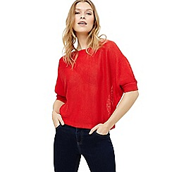 Phase Eight - Red delmi linen batwing knit jumper