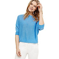 Phase Eight - Blue delmi linen batwing knit jumper