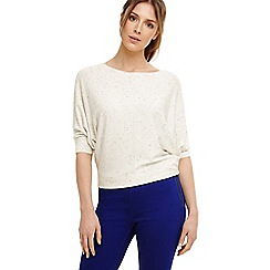 Phase Eight - White becca smart coloured fleck jumper