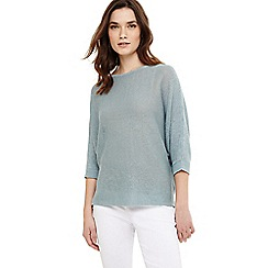 Phase Eight - Green delmi linen batwing knit jumper