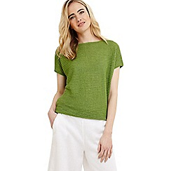 Phase Eight - Green marian linen knitted top