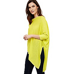 Phase Eight - Yellow linen melinda knit jumper