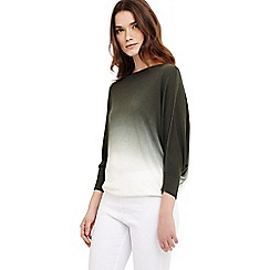 Phase Eight - Green Becca summer dip dye jumper