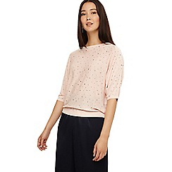 Phase Eight - Powder pink scattered stud cristine knit top