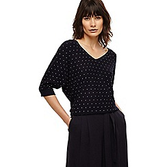 Phase Eight - Navy cristine stud knit top