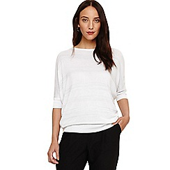 Phase Eight - White becca stripe shimmer jumper