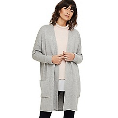 Phase Eight - Grey portia patch pocket knit coatigan