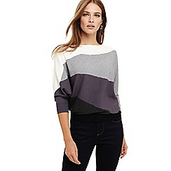 Phase Eight - Grey lorrie landscape intarsia knit jumper