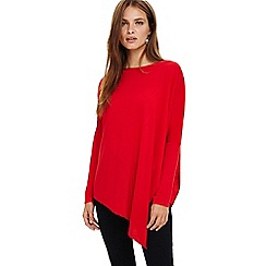 Phase Eight - Red melinda asymmetric knitted jumper