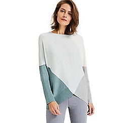 Phase Eight - Sage Charlize Colour Block Knitwear Jumper