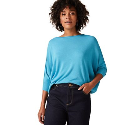 54510_403084403: Turquoise Becca Batwing Knit