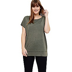 Studio 8 - Sizes 12-26 Green quinzy shimmer knit top