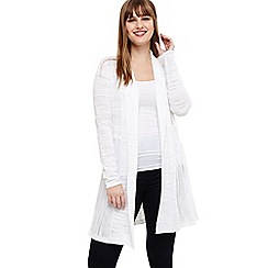 Studio 8 - Sizes 18-26 White delilah longline cardigan