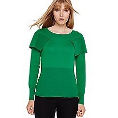 faa8ec1d4ac Damsel in a dress - Emerald agnes fold over knitted jumper
