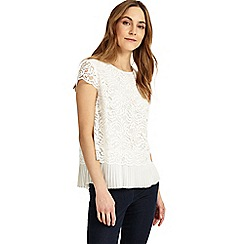 Phase Eight - Lexie pleated lace blouse