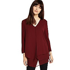 Phase Eight - Brick lenia layered blouse