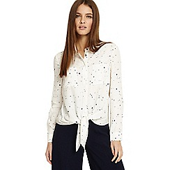 Phase Eight - Cream galaxy star print shirt