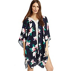 Phase Eight - Blue magnolia print kaftan