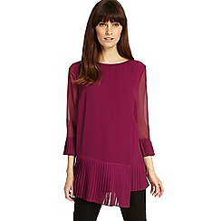 Phase Eight - Purple Ellanore pleat blouse