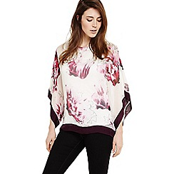 Phase Eight - Purple peony floral silk blouse