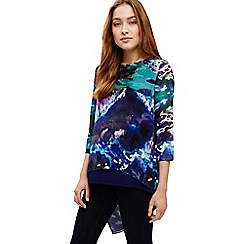 Phase Eight - Blue ariel print blouse