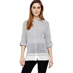 Phase Eight - Grey joi stripe shirt