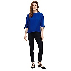 Phase Eight - Royal blue kya textured tie sleeves blouse