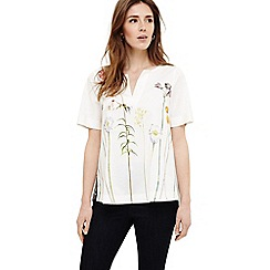 Phase Eight - White erinn botanical blouse