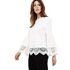 Phase Eight - Cream angelika crochet blouse