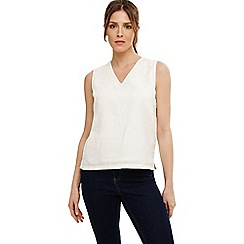 Phase Eight - White jessica embroidered blouse